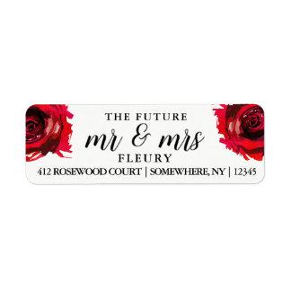 Sr. y la señora futuros etiquetas del remite