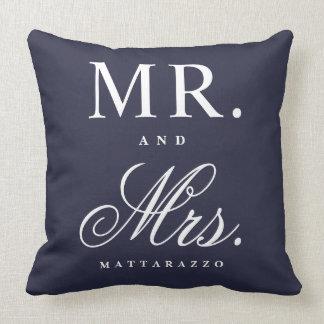 Sr. y señora almohada de tiro