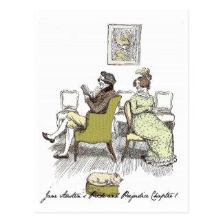 Sr. y señora Bennet P&P Jane Austen Postal
