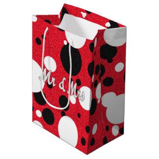 Sr. y señora bolso del boda del fiesta del ratón bolsa de regalo mediana