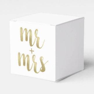 Sr. y señora cajas del favor, hoja del oro