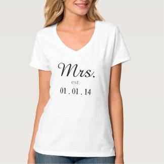 Sr. y señora est. camisa a juego modificada para