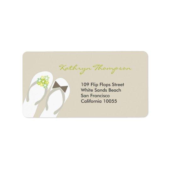 Sr. y señora etiquetas de dirección del boda de