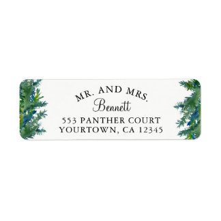 Sr. y señora etiquetas del remite - bosque del