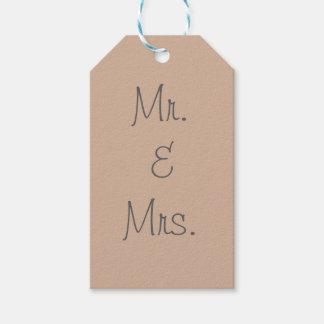 Sr. y señora etiquetas para regalos