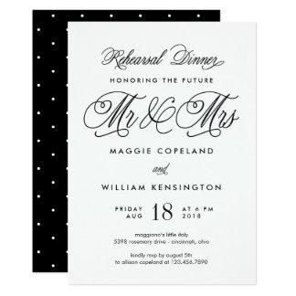 Sr. y señora futuros Rehearsal Dinner Invitation Invitación 12,7 X 17,8 Cm