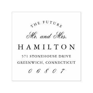 Sr. y señora futuros remite del   sello automático