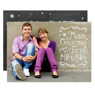 Sr. y señora futuros tarjeta de la foto del