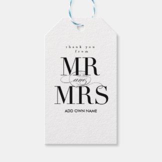 Sr. y señora Gift Tag Etiquetas Para Regalos