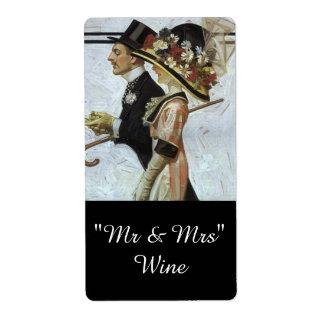 Sr. y señora His y el suyo de los pares etiquetas Etiqueta De Envío