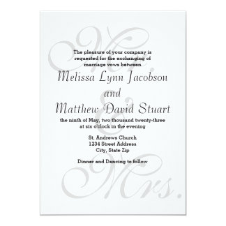 Sr. y señora - invitación del boda