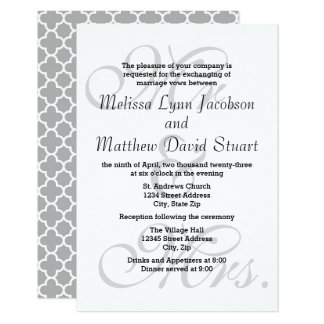 Sr. y señora - invitación del boda 3x5 y de la