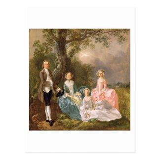 Sr. y señora Juan Gravenor y sus hijas, Eliz Tarjetas Postales
