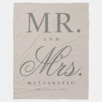 Sr. y señora manta del aniversario de boda
