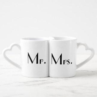 Sr. y señora Mug Set Set De Tazas De Café