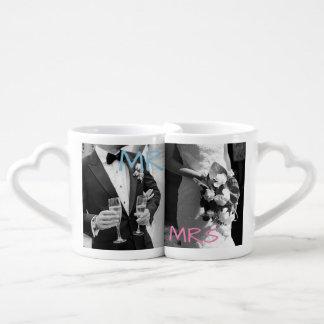 """""""Sr. y señora personalizados"""" tazas de café"""