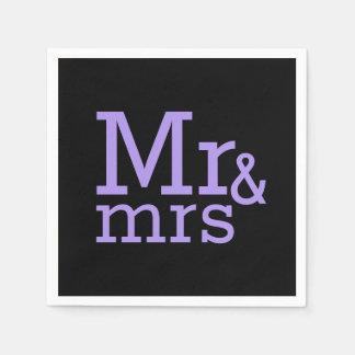 Sr. y señora servilletas de papel