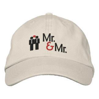 Sr. y Sr. Gay Wedding Gorra Bordada