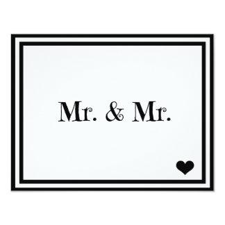 Sr. y Sr. Invitación 10,8 X 13,9 Cm