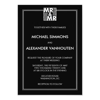 Sr. y Sr. invitaciones modernas del boda