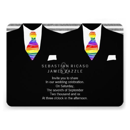 Sr. y Sr. Suit y boda gay del lazo del arco iris Comunicados Personales