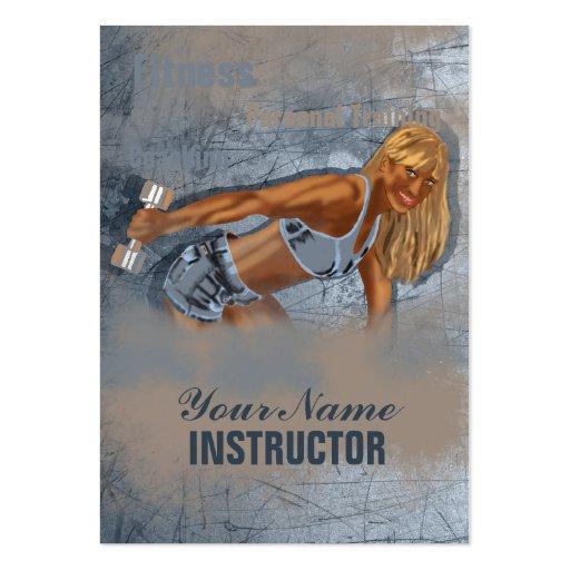 Srta. Fitness II - negocio, tarjeta del horario Plantillas De Tarjetas Personales