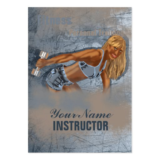 Srta. Fitness II - negocio, tarjeta del horario Tarjetas De Visita Grandes