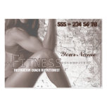Srta. Fitness III - negocio, tarjeta del horario Tarjeta Personal