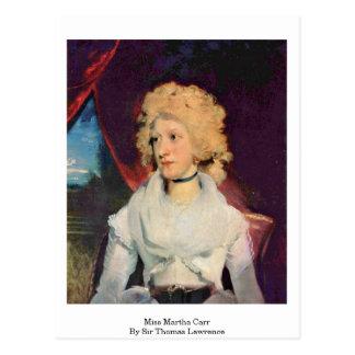 Srta. Martha Carr By sir Thomas Lorenzo Postal