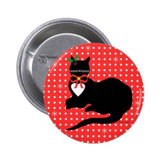 Srta. Molly Christmas/botón de Yule Pins