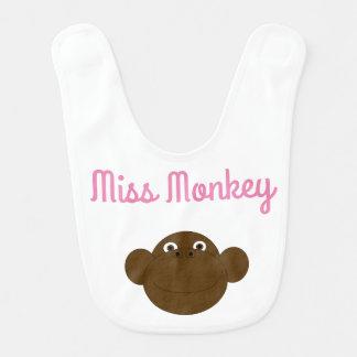 Srta. Monkey Baby Bib Babero