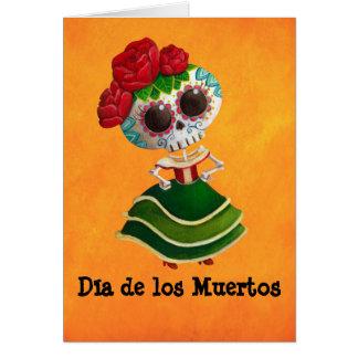 Srta. muerte de Dia de Muertos mexican Tarjeta De Felicitación