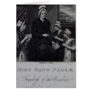 Srta. Nano Nagle, 1809 Tarjeta De Felicitación