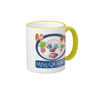 Srta. Quote Mug Taza A Dos Colores