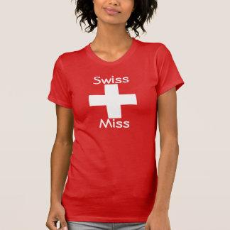 Srta. suiza Tee Camiseta
