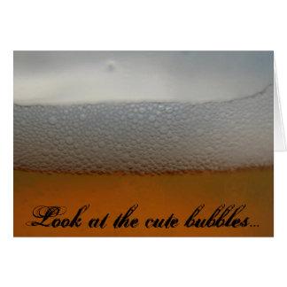 Srta. You y cerveza Tarjeta De Felicitación