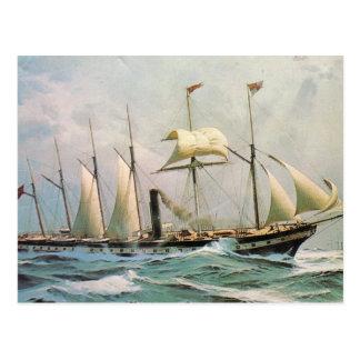 SS Gran Bretaña en el mar Postal