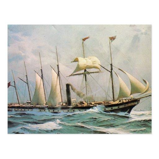 SS Gran Bretaña en el mar Postales