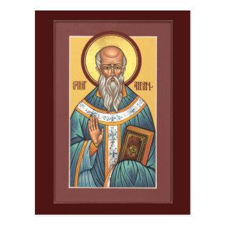 St Aidan de la tarjeta del rezo de Lindisfarne