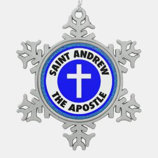 St Andrew el apóstol Adorno De Peltre Tipo Copo De Nieve