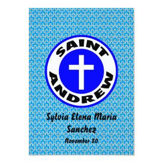 St Andrew invita Invitación 12,7 X 17,8 Cm