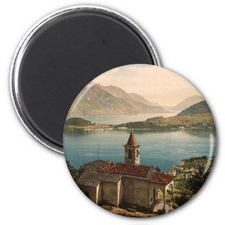 St. Ángel y visión de Capello de Bellagio, lago Co Imán Redondo 5 Cm