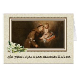 St Anthony de la tarjeta de felicitación de Padua
