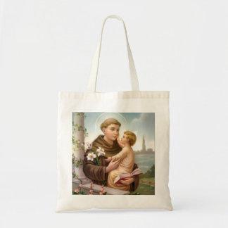 St Anthony del bebé Jesús de Padua Bolso De Tela