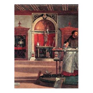St Augustine en su estudio - Vittore Carpaccio Postal
