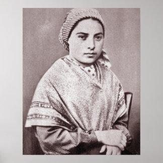 St. Bernadette Soubirous Póster