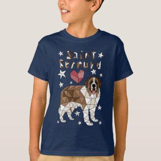 St Bernard geométrico Camiseta