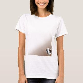 St Bernard sonriente en Brown Camiseta