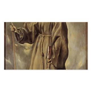 St. Bernardino del EL Greco- de Siena Tarjetas De Visita