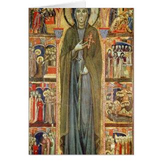 St. Clare con escenas a partir de su vida Tarjeton